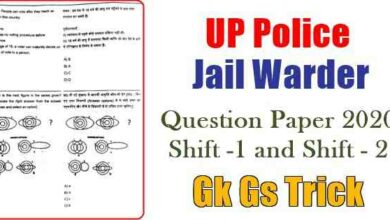 Photo of UP Police Jail Warder Constable Fireman Question Paper PDF Download