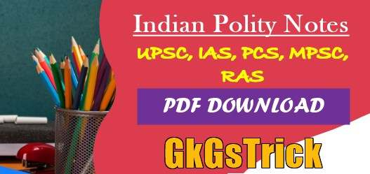 Indian Polity Notes PDF Download in Hindi and English
