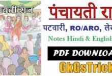 Photo of Panchayati Raj Notes pdf in Hindi | पंचायती राज नोट्स pdf