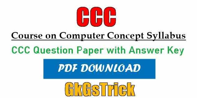CCC Syllabus in Hindi & English 2021