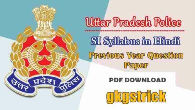 Photo of UP SI Syllabus 2021 in Hindi