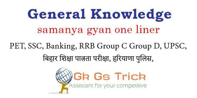 General Knowledge pdf in Hindi 2021 For All Competitive Exams